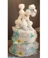 POODLE DOG Baby Shower Gift Diaper Cake Boy Gir... - $48.00