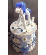 Blue ROCKING HORSE Baby Shower Gift Centerpiece... - $48.00