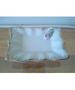 Mid-Century Porcelain Ring Holder/Tray w/Gold &... - $12.00
