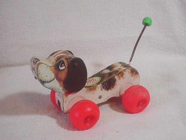 Fisher Price Little Snoopy pull toy no 693 made in USA