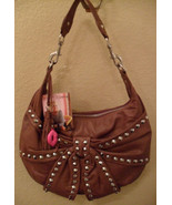 NWT BETSEY JOHNSON Bows & Arrows Leather Hobo $268 NEW - $174.20