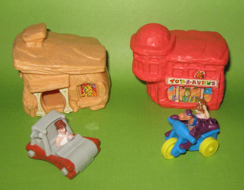 Flintstones Bedrock McDonalds happy meal toys 1993