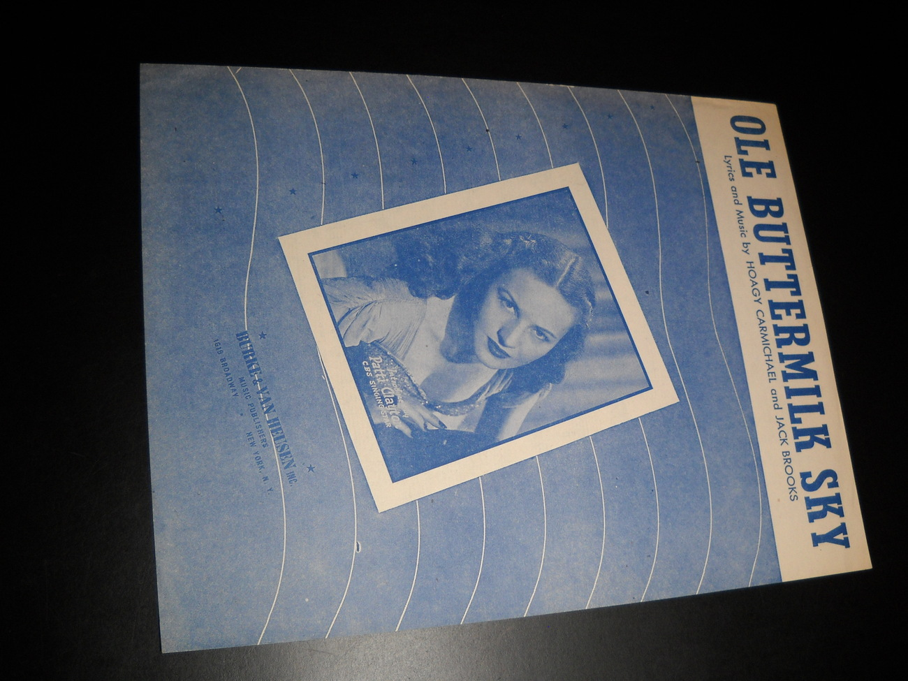 Sheet Music Ole Buttermilk Sky From Canyon Passage Patti Clayton 1946 Carmichael