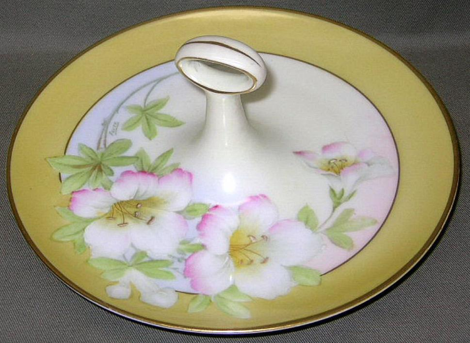 P T Bavaria China http://www.bonanza.com/listings/Antique-handpainted-lemon-plate-P-T-Bavaria-Tirschenreuth/39389110