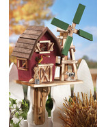 Country Barn With Windmill Birdhouse - $18.95
