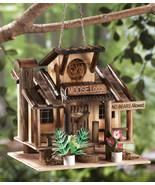 Rustic Moose Lodge Northwoods Hanging Birdhouse - $19.95
