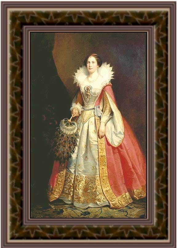 Lovisa, Renaissance Cross Stitch Pattern