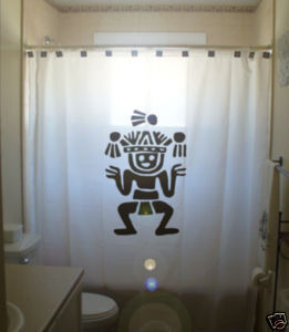 Loteria Mexican Bingo vinyl shower curtain
