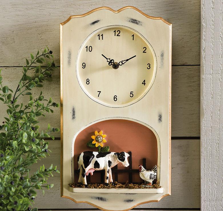 Farm Decor Wall Clock