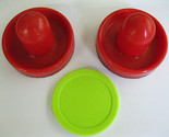 Buy Air Hockey - 2 NEW RED Air Hockey Handles &  Fluorescent Green Puck