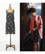 NEW 2011 Anthropologie Gameboard Silk Dress 2/X... - $69.99