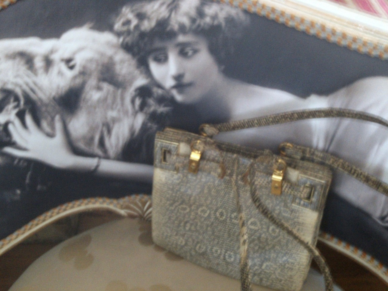 Judith Leiber Vintage Lizard Purse, Bag, Handbag,