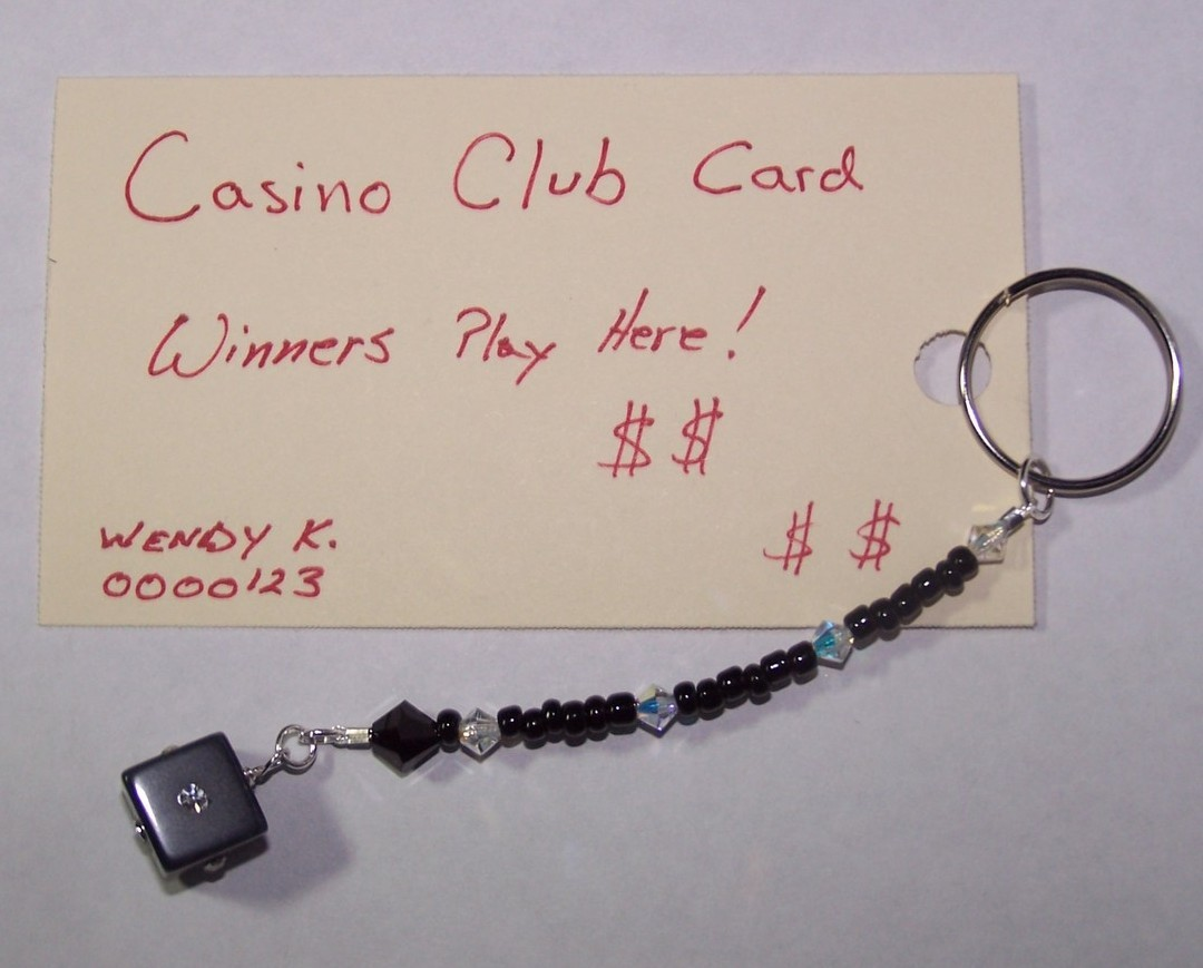 Casino Club Card Jewelry Crystals Black Seed Beads Dice Cube Charm handmade