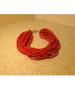 BRACELET BEAUTIFUL RED CORAL TWIST #559 - $8.99