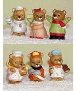 6 Ceramic HOMCO Bear Figurines by Home Interior... - $14.99