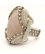 Wire Wrap Berry Wire Rose Quartz Silver Ring - $200.00
