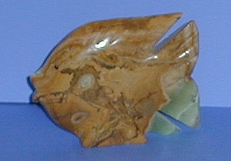 Authentic Hand Carved Onyx and Marble Fish