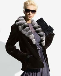 NWT $6000+ Bloomingdales Designer Beaver Chinchilla Real Fur Coat Jacket