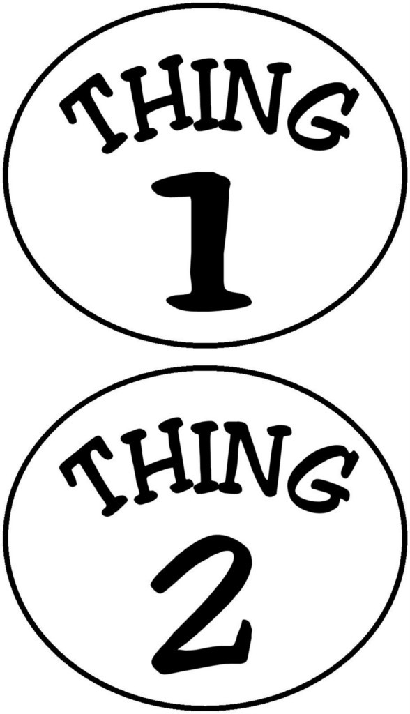 Exhilarating image with regard to thing 1 and thing 2 printable iron on transfer