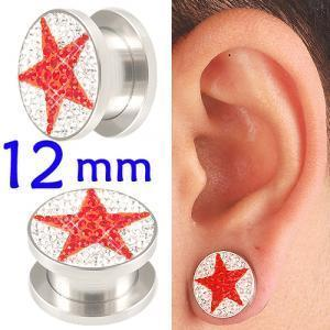 crystal tunnel 12mm ear stretcher kit piercing lot BBDV
