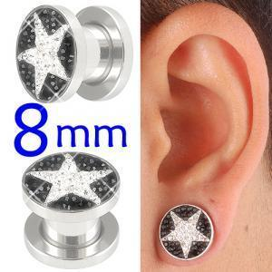 crystal tunnels 8mm ear stretcher kit piercing lot BBDW