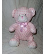 Animal Alley Baby My 1st Teddy Bear Pink Gingham Plush