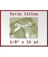 Ivory Cream Satin Sgl Face Polyester Ribbon 5/8... - $2.75