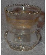 Gold Trim Beaded Edge Glass Toothpick Holder - $6.95