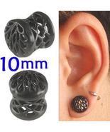 Black Alloy ear tunnel 00g gauge stretcher kit ... - $15.20