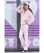 Pink Velour Women tracksuit hoodie without cup - $44.00