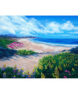 Half Moon Bay Flowers California Seascape Ocean... - $1,199.00