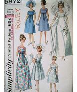 Simplcity 5872 Vintage 60s Junior 13 Wedding Dr... - $16.95