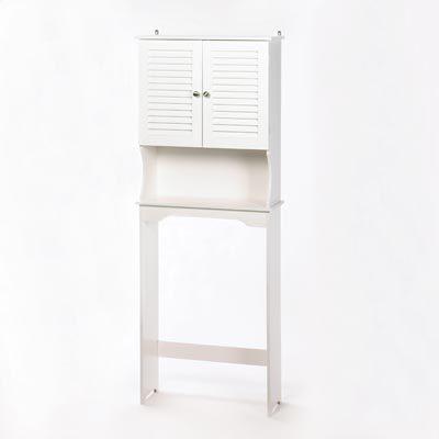 Antique White Bathroom / Laundry Room / Bedroom Linen Storage