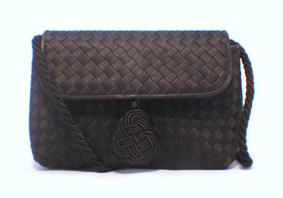 Bottega Veneta Woven Satin Evening Bag