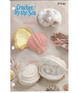 Crochet by the Sea Nautilus, Scallop Shell, Oyster Crochet Pattern~Annie's - $18.90