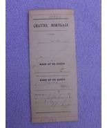 1916 Chattle Mortgage for Piano Arkansas Ephemera - $5.00