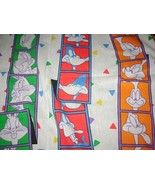 VTG Looney Tunes Twin Flat Sheet Childrens Bedd... - $11.99