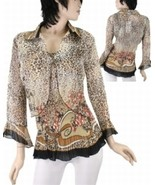 Two Piece Cheetah Print Blouse - $22.00