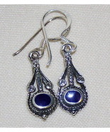 Sodalite and Sterling Silver Earrings - $8.00