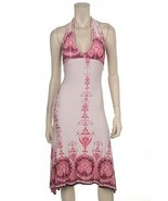 Pretty In Pink Halter Strap Dress-Large - $19.99