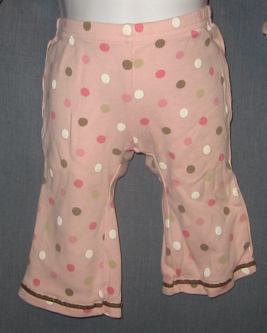 Carters Girls Size 6M Six Month Pink Polka Dot Pants
