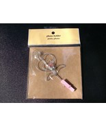 Decorative WIRE and BEAD PHOTO HOLDER with CLIP... - $4.00