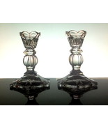 Crystal Candlesticks with Triangular Arches 5 i... - $12.99
