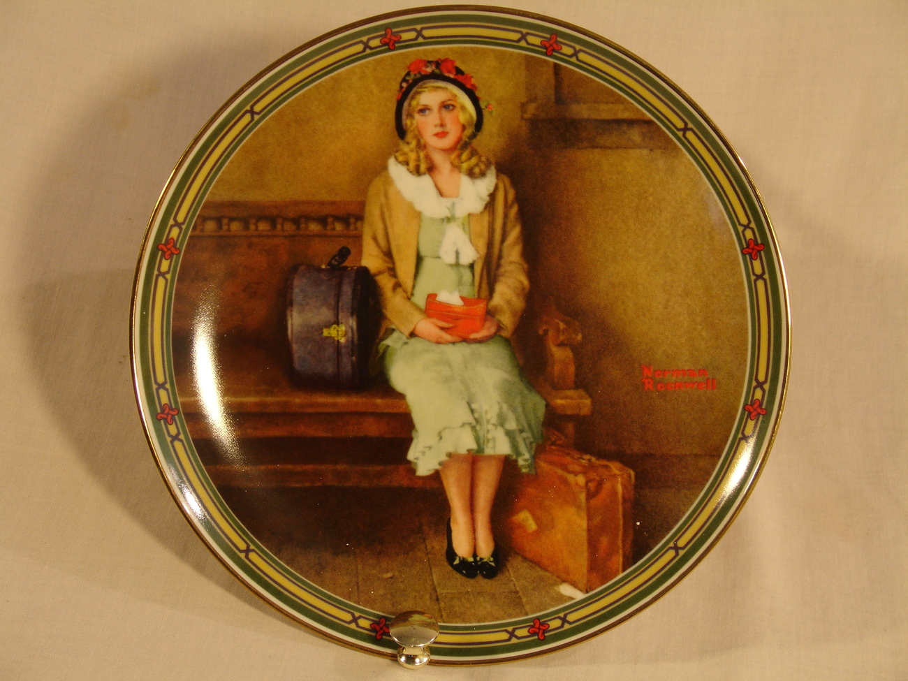 "Norman Rockwell ""A Young Girl's Dream"" Collector Plate"