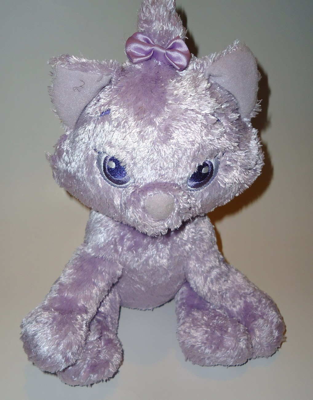 Disney Store Marie Aristocats Cat Plush Stuffed Animal Purple Kitten Kitty