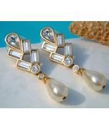 Vintage Signed Swarovski SAL Earrings Crystals ... - $29.95