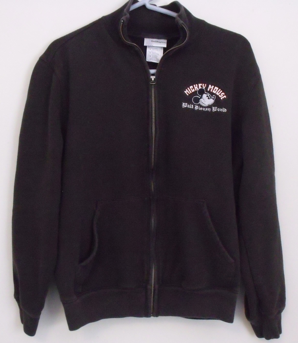 Womens Walt Disney World Brown Full Zip Sweatshirt Size