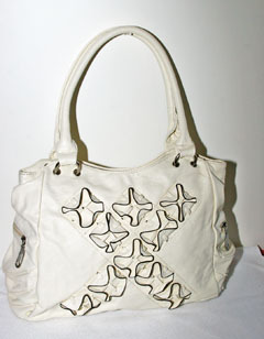 Handbag Soft Bone Color Satchel Purse Hobo