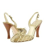 Hype Gold Sandal Womens Size 8 Dress Shoes Heel... - $32.00