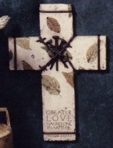 Love One Another Wall Cross by United Design CJ0273